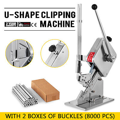 U-shape Sausage Clipping Clipper Machine 8000Pcs Clips Sealing Packing Home