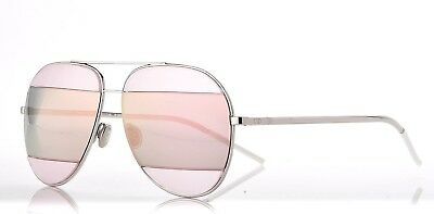 eaae633680d3 Christian Dior Sunglasses SPLIT2 0100J Silver Grey Silver Pink Gold Aviator  Sz59