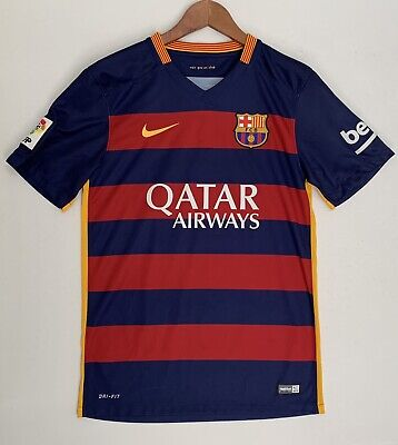 low priced 3bbdc 4bf6d NIKE DRI-FIT BARCELONA Soccer Jersey FCB Qatar Youth Large Beko LFP
