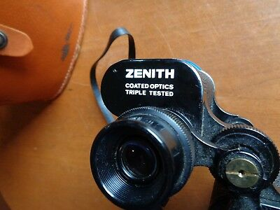 Vintage Zenith Triple Tested Field 7.1 Light Weight 7 X 50  Binoculars w/case