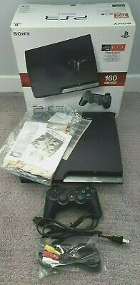 SONY PlayStation 3 PS3 SLIM Launch Edition 160GB CHARCOAL BLACK Boxed Console