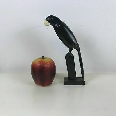 Folk Art Carved Buffalo Bone Horn Carved Bird Parrot