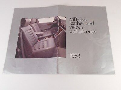 1983 Mercedes-Benz Tex, Leather and Velour Upholsterer  Brochure