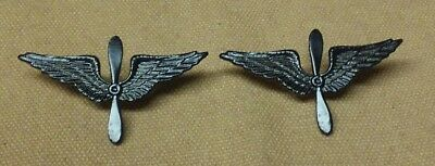 WWI US Army Officer Army Air Service Pilot Insignia Pins, Later style One Pair