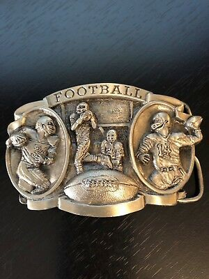 Bergamot Brass Works Football Belt Buckle 1983 USA Football Write Up