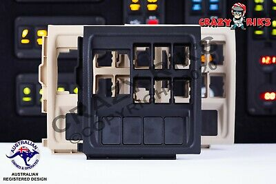 Toyota 200 Series Land Cruiser Switch Panel 4x Extra Switch Blanks (BLACK)