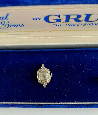 Antique Diamond Gruen Ladies Wristwatch ~ No band ~ 14 diamonds ~14 KT