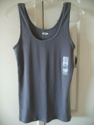 Must Have! Old Navy Slate Grey Ribbed Knit Tank Top Cami 1X 2X 3X 4X Plus Sizes
