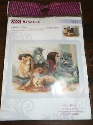 "Riolis Rooster Counted Cross Stitch Kit NEW sealed 11.75/"" x 15.75/"""