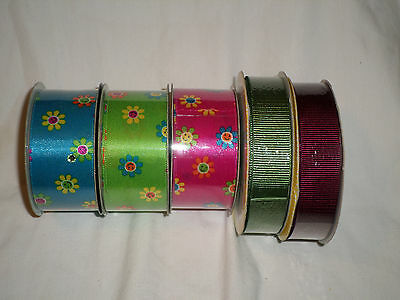 CHRISTMAS HOLIDAY INDOOR Craft Wire-Edged Ribbon Celebrate
