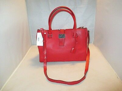 f938202949ce Michael Kors Handbag Bond Large Leather Satchel, Shoulder Bag, Tote $498 Red
