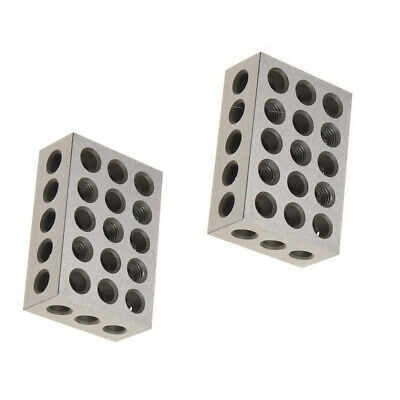 Pair 1-2-3 123 BLOCK Set Precision Matched MILL MILLING MACHINIST 23 Holes USA