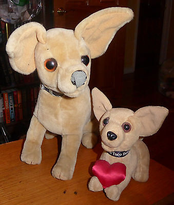 Set of 2 - Adorable 1998 Taco Bell Chihuahuas