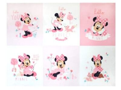 Disney Minnie Mouse Quilt Panel * Little Meadow * New * Free Post *
