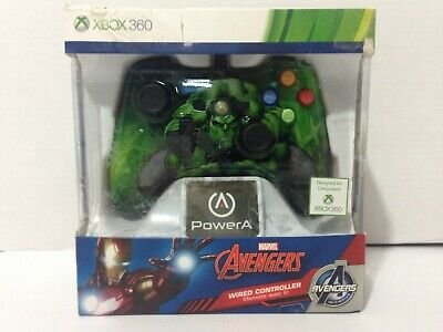 PowerA Xbox 360 Marvel The Hulk Officially Licensed Wired Controller 1414564-01