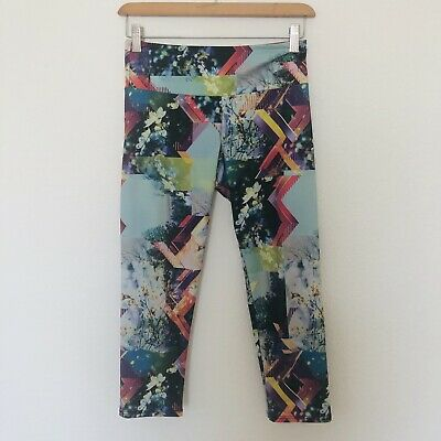 b0376bea7e Onzie XS Colorful Geometrical Photo Floral Desert Print Capri Yoga Leggings