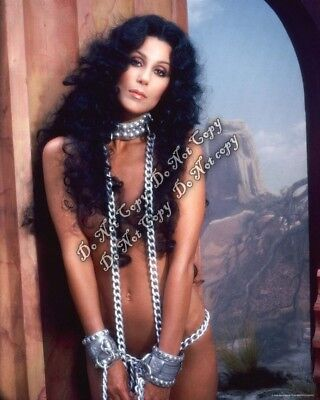 CHER Photo Chains Sexy Super Star No Clothes Cuff Hot Singer Actress Rare 4x6 Rp