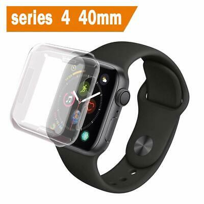 iWatch Series 4 Screen Protector 40mm Protective TPU Clear Ultra-Thin Cover Blak