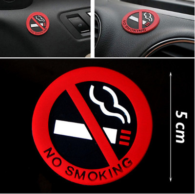 3 Pcs No Smoking Warning Signs Decal Rubber Stickers Car Home Door  Vogue Good