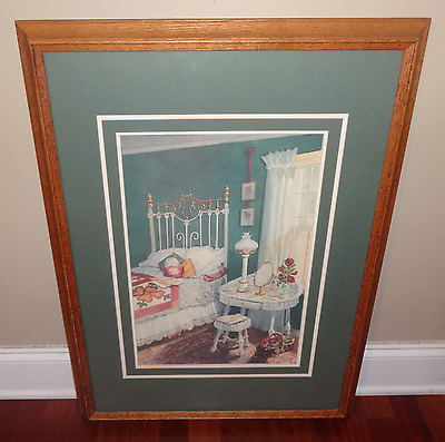 "Framed Vintage Joy Evans ""Resting Place"" Signed Limited Edition Print Lithograph"