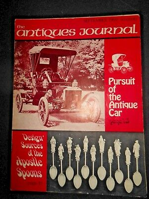 Antiques Journal Magazine 1969 Cars Apostle Spoons Lemuel Curtis Ancient Glass