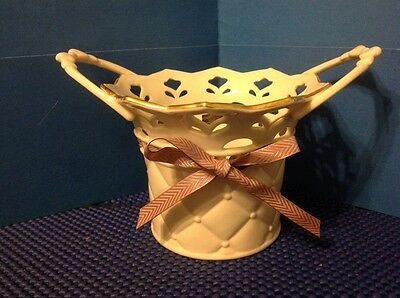 NWOB! Lenox Porcelain Bethany Basket Bowl ~ Tied With Love