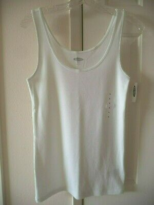 Must Have! Old Navy White Ribbed Knit Tank Top Cami XXL 1X 2X 3X 4X Plus Sizes