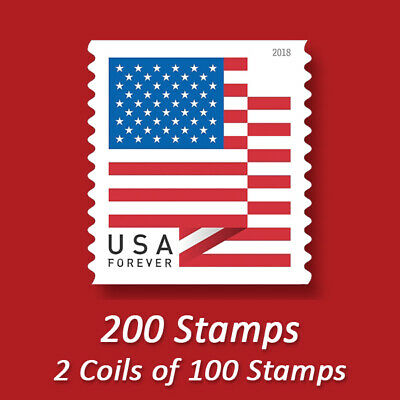 200 USPS FOREVER STAMPS - CHEAP Postage - FREE SHIPPING!