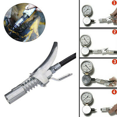 Grease Coupler Durable Locking Clamp Type Metal Stainless Quick Release Grease