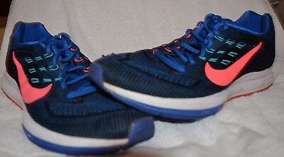 low priced ae831 28fae Nike Men s ZOOM STRUCTURE 18 Running Shoes Blue Size 11.5