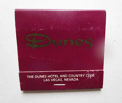 Matchbook: The Dunes Hotel and Country Club- Las Vegas, Nevada
