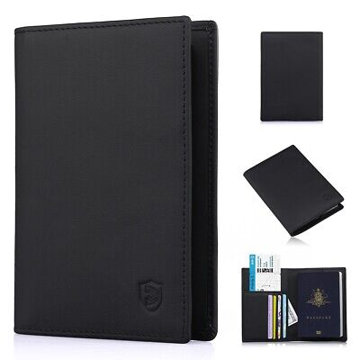 Passport Holder Cover Wallet RFID Blocking Leather Card Case Travel Organizer
