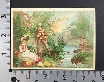 Vintage Antique Post Card, J & P Coats Spool Cotton Advertising, 1880 Calendar