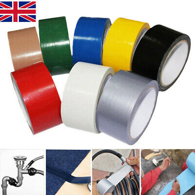 50mm x 10m Duck Duct Gaffa Gaffer Waterproof Adhesive Repair Cloth Tape 8 Colour