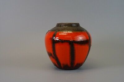 Vintage 60-70s RUSCHA KERAMIK Costa Vase West German Pottery Fat Lava