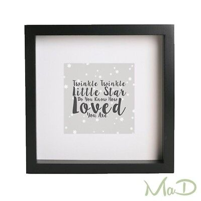Twinkle Twinkle Little Star Do You Know How Loved You Are Quote Box Frame.