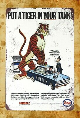 US Seller- man cave artwork Esso gas put a tiger in your tank tin metal sign