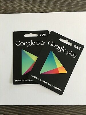 £25 X 2 GOOGLE PLAY GIFT CARD (unwanted gift)
