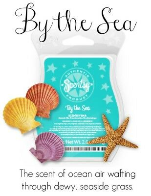 2 X  BY THE SEA SCENTSY BARS ~ Wax Melts ~ For Use With Wax Warmers ~ Bundle ~