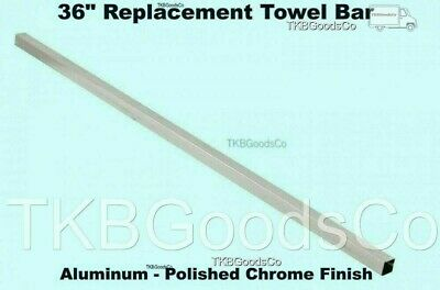 """36"""" REPLACEMENT TOWEL BAR Polished Chrome Finish Square Fits 3/4"""" Bracket"""