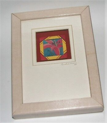 """Lilly"" ...  Fabric/Textile Signed and Framed Art by Ohio Artist, Arnelle A. Dow"
