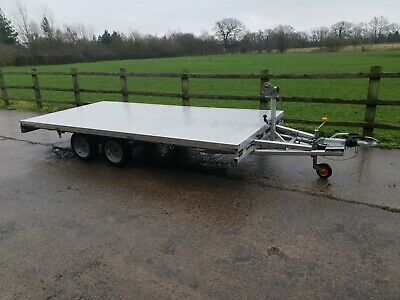 Aluminium Twin Axle Flat Bed Trailer 14ft by 6ft 6