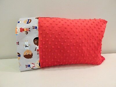 NWT Sports Minky Dot Toddler Pillowcase 12 x16 Baseball Football Soccer Basketba