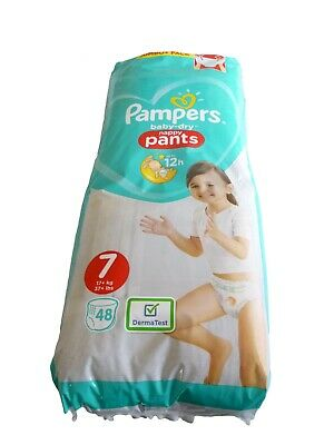 48 Pampers Baby Dry Nappy Pants Size 7 (17+kg 37+lbs)