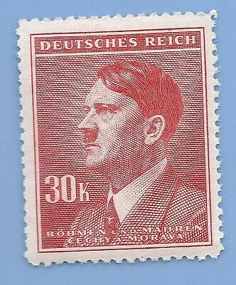 Nazi Germany Third Reich Nazi B&M Adolf Hitler 30k stamp MNH WW2 ERA