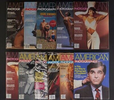 American Photographer Magazine x 11 Issues 1986-1988 Photography Culture Design