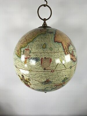 Authentic Models Mercator Terrestrial 16th Century Hanging Globe Repro GL002A