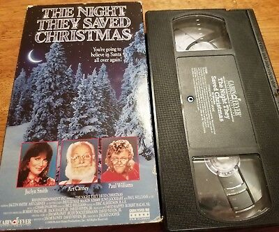 The Night They Saved Christmas VHS - Jaclyn Smith, Art Carney