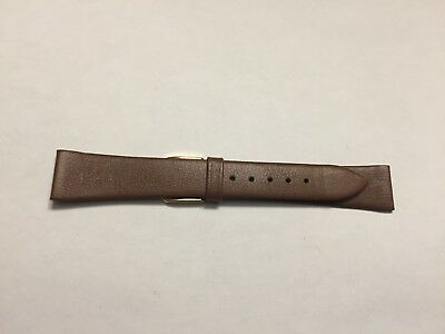 Vintage Brown 18Mm Genuine Leather Watch Band 2 To Chose From Swiss / W.germany