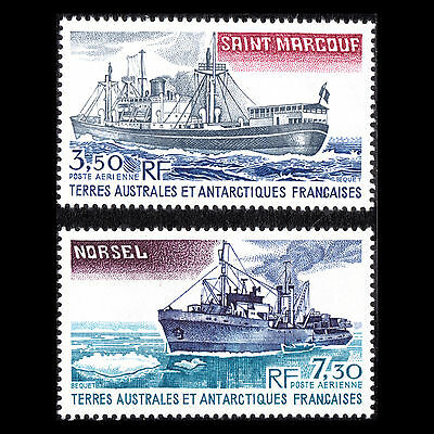 "Taaf 1980 - Antartico Fornire Relitto "" Norsel & Saint Marcouf "" - Sc C62/3 MNH"